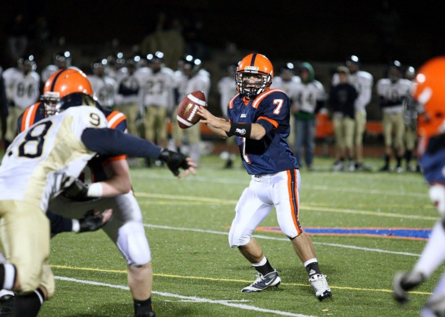 Senior quarterback Troy Salvatore was acknowledged by the Boston Globe for his performance in the 27-14 Walpole win.