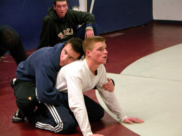 Senior Mike Cofsky and junior Cam Benoit practice for their State Meet. (Photo/Keith Lewis)