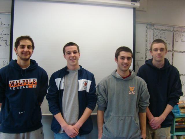 Captains Alex DiScuillo, Matt Fuller, Joe Guidoboni, and Ryan Herlihy.