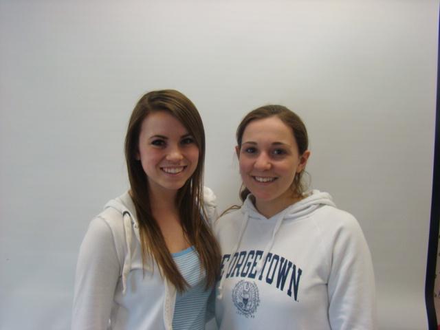 Captains Meg Anchukaitis and Paige Hagopian (not pictured Lauren Kemple).