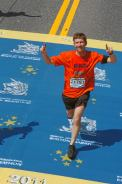 Richard Sturges crosses the finish line