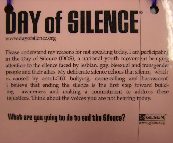 Walpole High Takes a Vow of Silence in Protest to Bullying