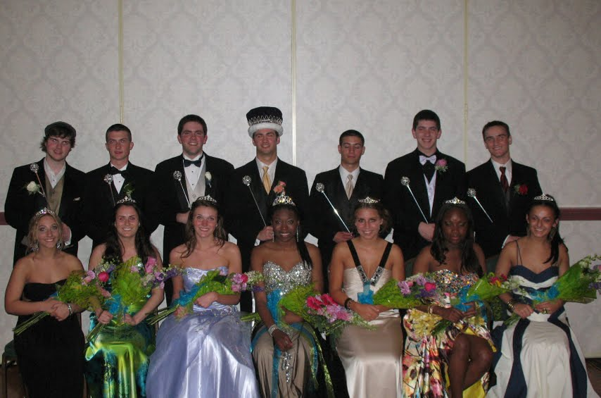The Prom Court poses with flowers