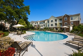 The Lodge, in Foxboro, is one of the luxurious apartment complexes built by Hanover