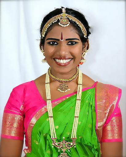 Senior Karishma Reddy dressed in authentic Indian fashion