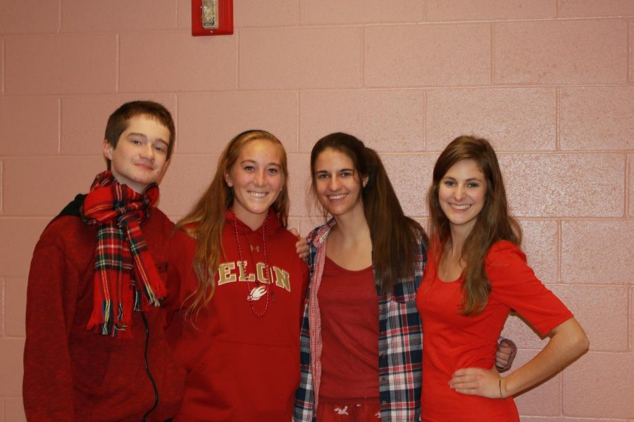 Students at Walpole High wear red for Ally Day