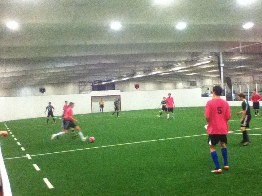 The Cure dominating possession in their game last Sunday at Forekicks.