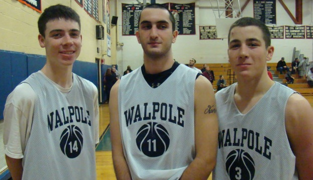 The boys basketball captains. (Photo/Tyler Creighton)