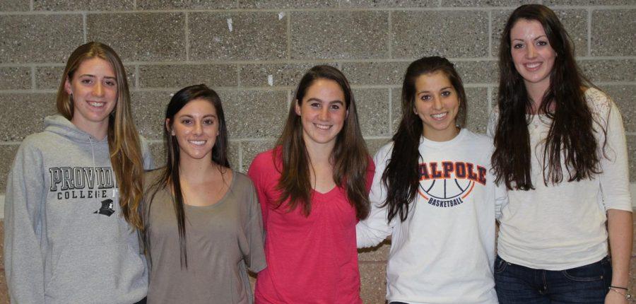 The seniors on the girls basketball team. (Photo/Russell Ollis)