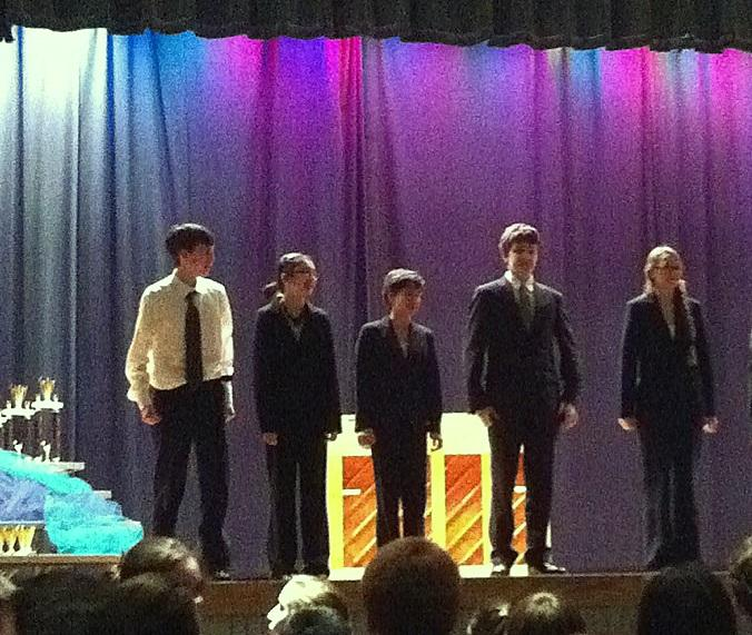 Adam, pictured above on the far left, during the award part of the most recent competition.