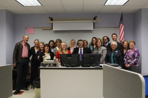 The foreign language department celebrates the opening of the new language lab.