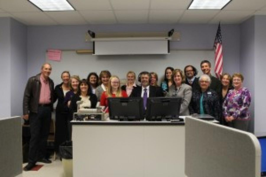The Foreign Language Department celebrates the opening of a new Language Lab.