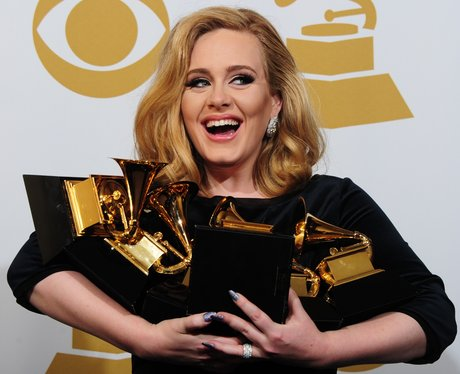 Adele and her six trophies