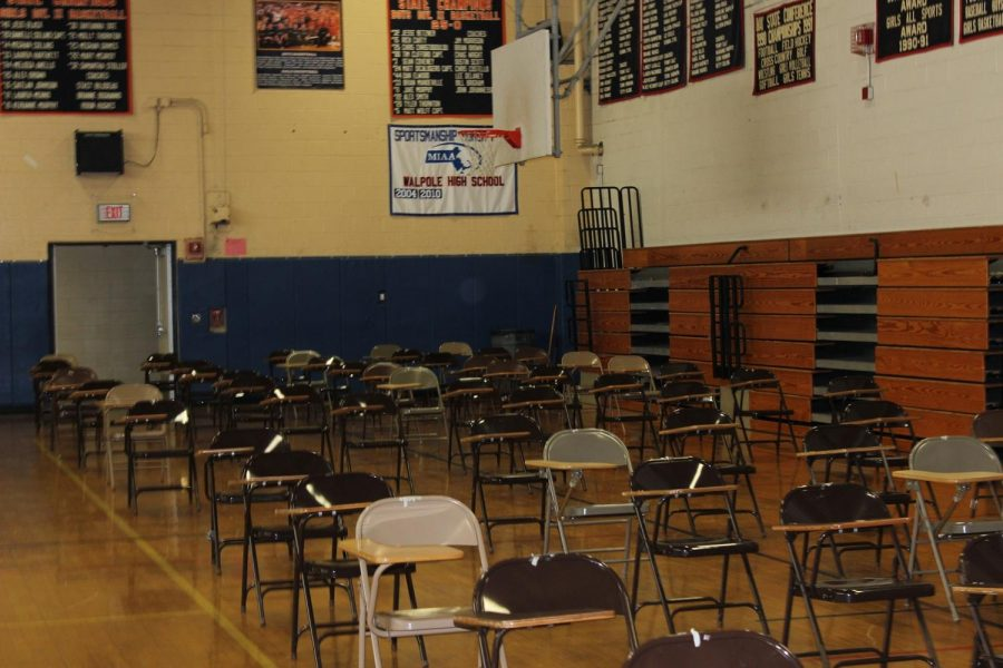 The gymnasium is ready for students.