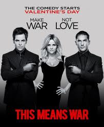 This Means War, released on Valentine's Day, is romantic, but was expected to be funnier.