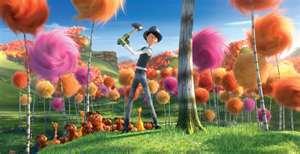 The Once-ler as a little boy cuts down Truffula Trees