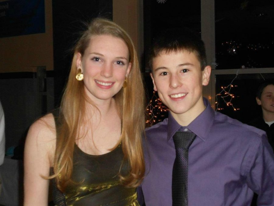 Caleb Cofsky and Emma Comiskey at the Winter Ball