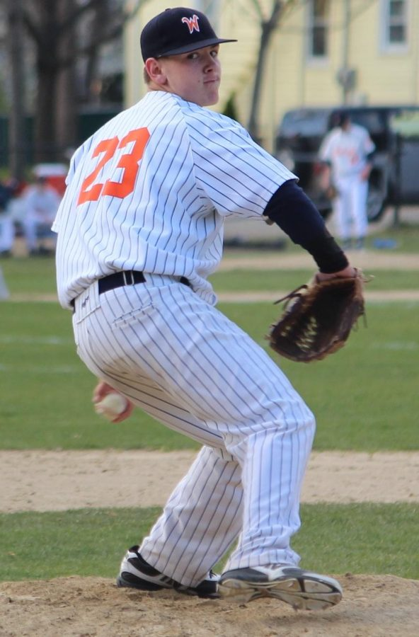 Walpole's starting pitcher made quick work of the Braintree lineup. (Photo/James Cullinane)