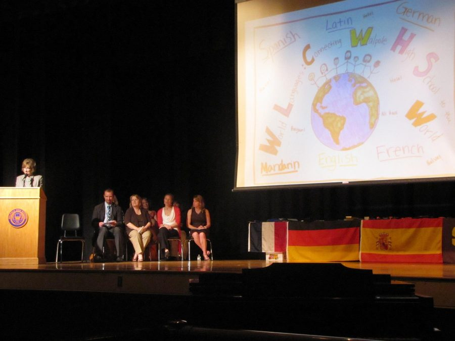 Foreign Language Awards Night Proves Walpole Students' Interests in Foreign Culture