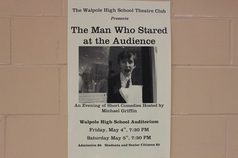This poster seen around Walpole High advertises the production.