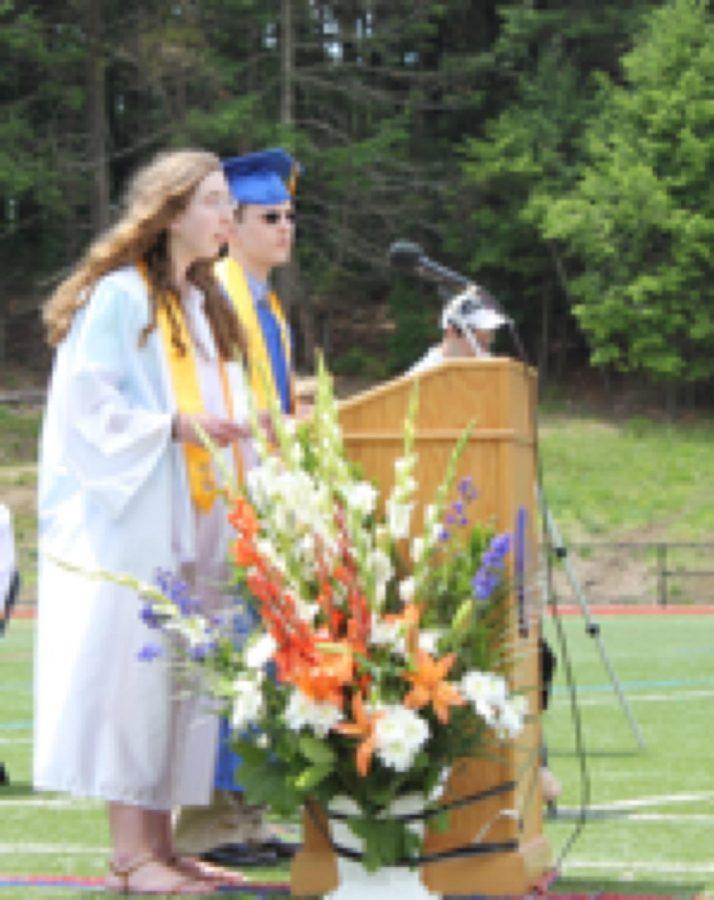 Senior Emily Rose gives the Salutatorian speech