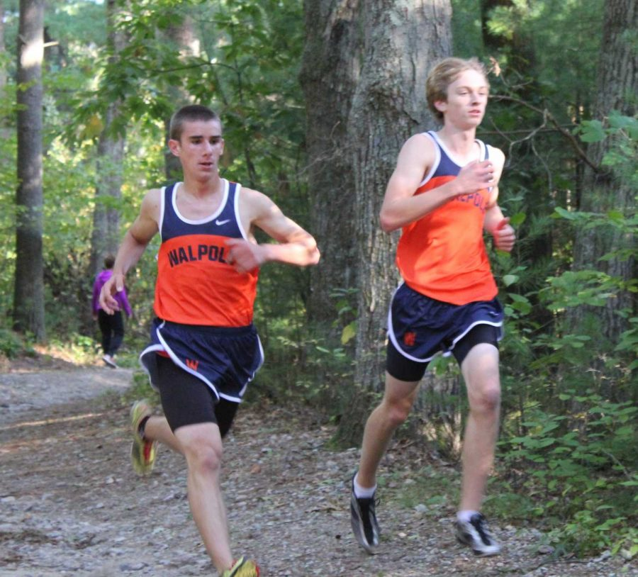 Two Walpole runners compete against Wellesley.