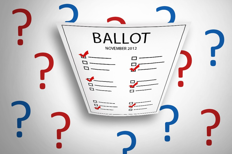 There are 3 questions on the 2012 ballot: Availability of Motor Vehicle Repair Information, Prescribing Medication to End Life, and Medical Use of Marijuana