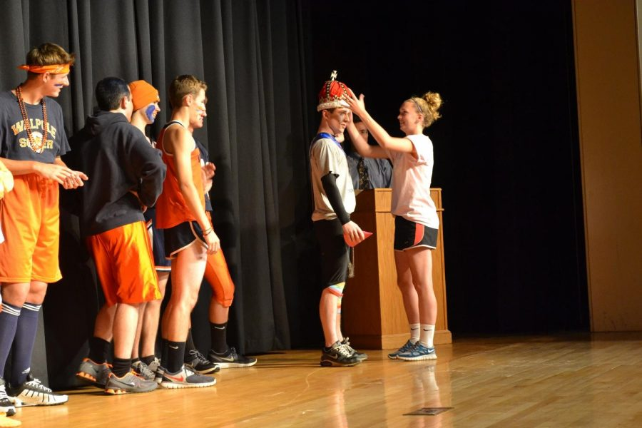 The rest of the contenders watch Mr. WHS get crowned
