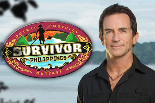 Jeff Probst hosts the new season of Survivor, located in the Philippines.