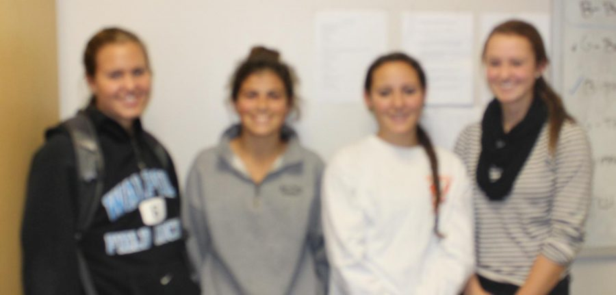 Captains Brooke Matherson, Michaela Tosone, Bethany Walsh, and Ally Russo.