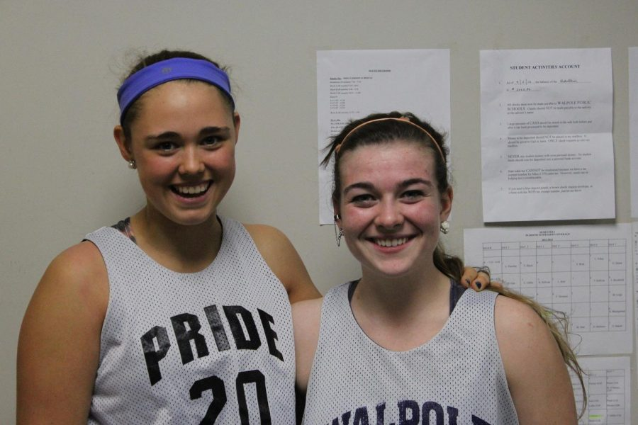 Senior Captains of the Girls Basketball team.