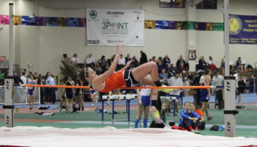 Athlete clears 44 to avoid sweep.