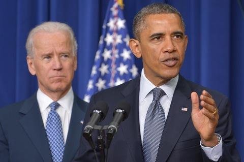 Obama and Biden address the media on Wednesday (Photo/pbs.org).