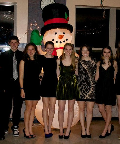 Students pose for a picture at last year's Winter Ball.