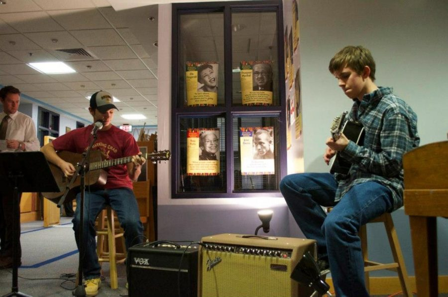 Walpole High students perform at the winter Coffee House