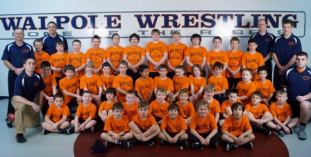 The Youth Walpole Wrestling Team poses for a photo. (Photo/Walpole Rec)