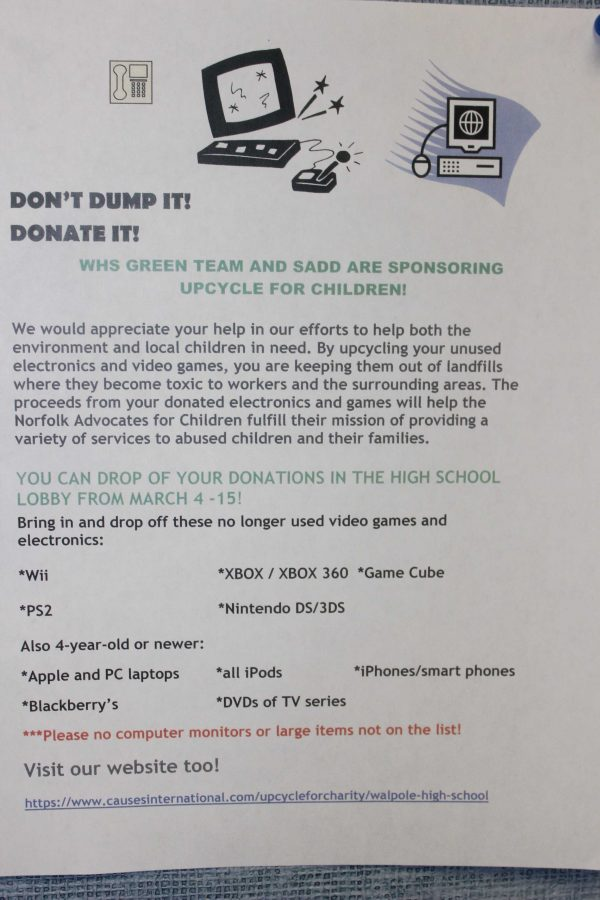 Donate your old electronics to the tech-drive.