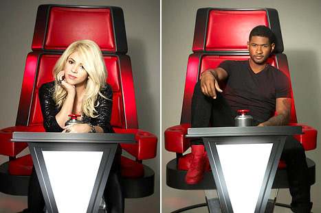 Shakira and Usher have replaced Christina Aguilera and Cee Lo Green as judges for season 4.