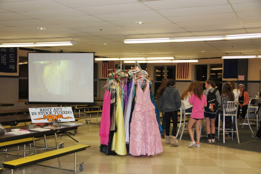 Girls shop for their dresses at Girls Night Out