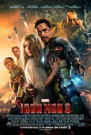 The movie poster for Iron Man 3