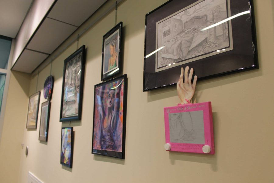 Artwork from the AP Concentrations of students at Walpole High School
