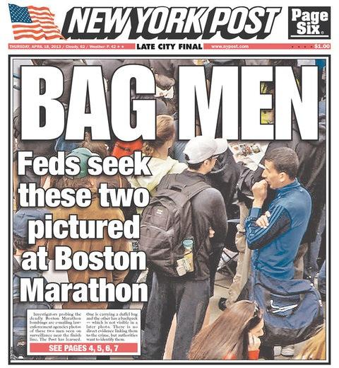One of the numerous erroneous news reports concerning the Boston Marathon bombings.