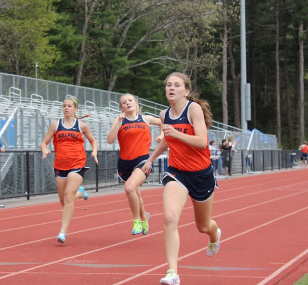 Three Walpole Girls Compete in the 400m.