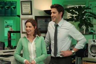 Jim and Pam are happily in love in episode 198/199 of