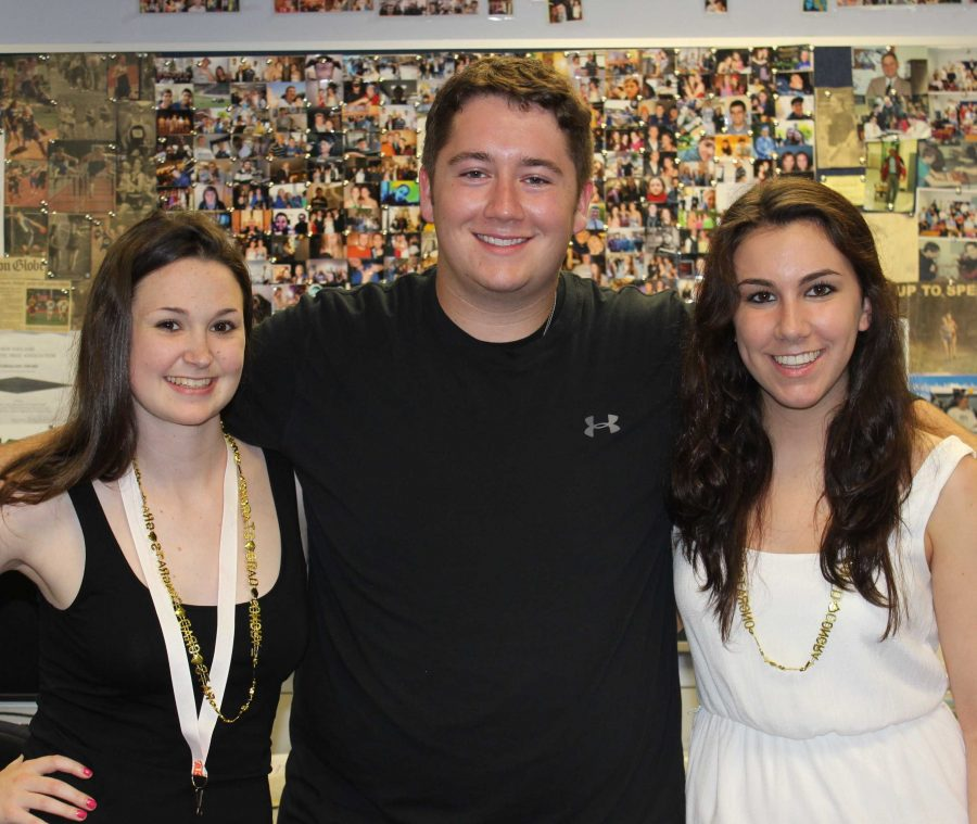 The Rebellion's 2012-2013 Editors in Chief pose for a picture.