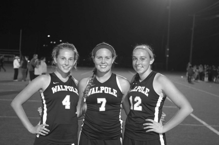 The three Field Hockey captains pose for a photo.