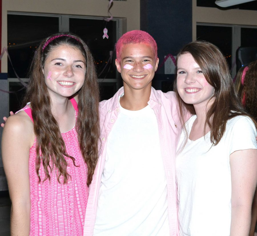 Students pose for a picture at the Pink Dance.