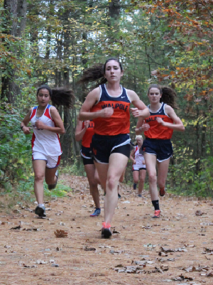 A Walpole runner leads the pack.
