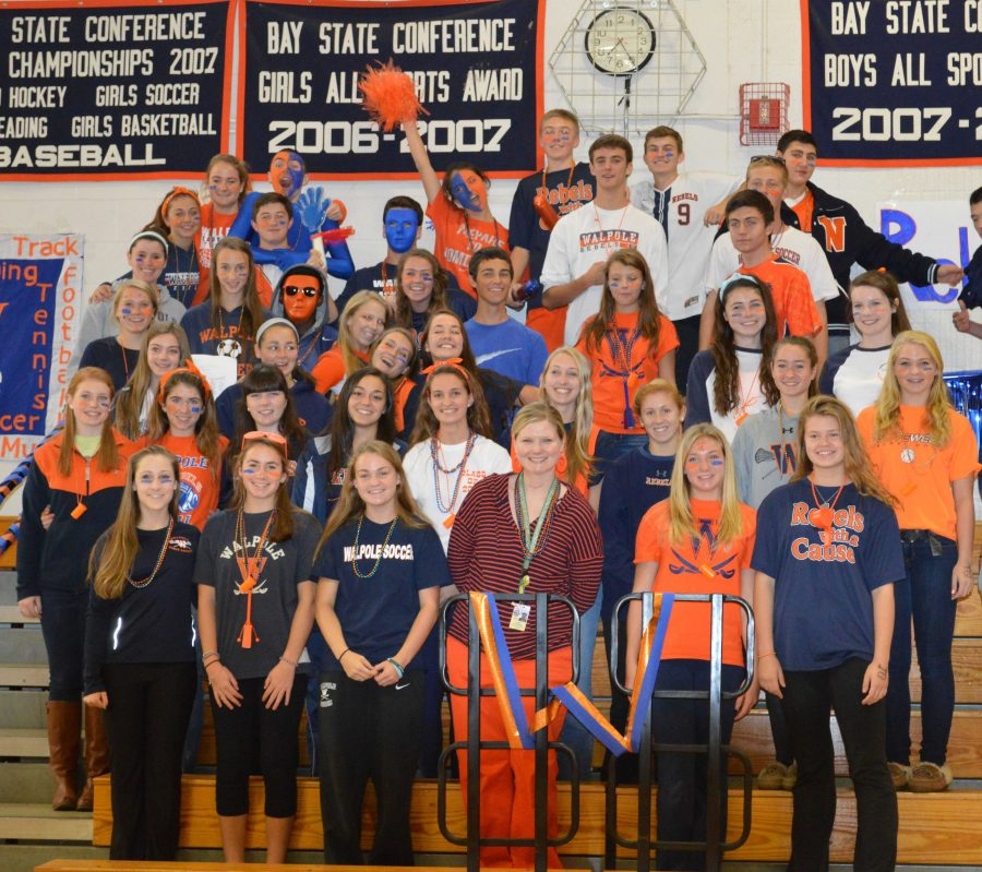Newly elected freshman join the rest of student council at the Pep Rally.