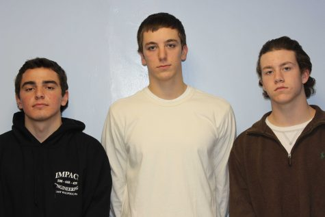 The senior captains of the Boys Hockey team.